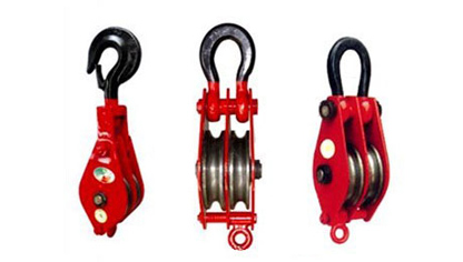 Double Wheels Pulley Block / Double Sheave Block